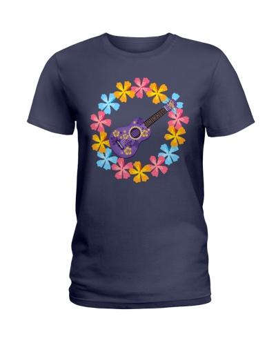 Flower Circle Purple Ukulele