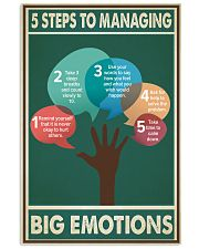 Social Worker 5 Steps To Managing Big Emotions  11x17 Poster front