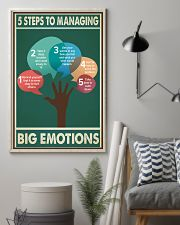 Social Worker 5 Steps To Managing Big Emotions  11x17 Poster lifestyle-poster-1