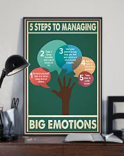 Social Worker 5 Steps To Managing Big Emotions  11x17 Poster lifestyle-poster-2