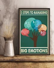 Social Worker 5 Steps To Managing Big Emotions  11x17 Poster lifestyle-poster-3