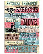 Physical Therapist Exercise Makes A Difference 11x17 Poster front