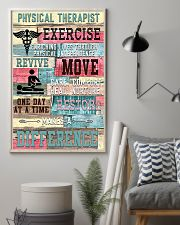 Physical Therapist Exercise Makes A Difference 11x17 Poster lifestyle-poster-1