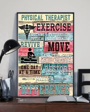 Physical Therapist Exercise Makes A Difference 11x17 Poster lifestyle-poster-2