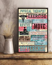 Physical Therapist Exercise Makes A Difference 11x17 Poster lifestyle-poster-3