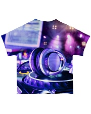 DJ Headphone All-over T-Shirt back