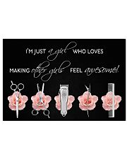 Hairdresser Loves Making Other Girls Feel Awesome 17x11 Poster front