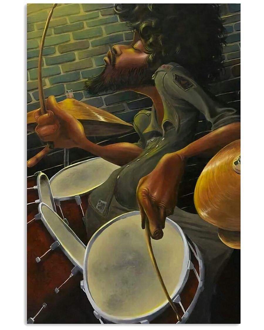 Drummer Man Art 11x17 Poster