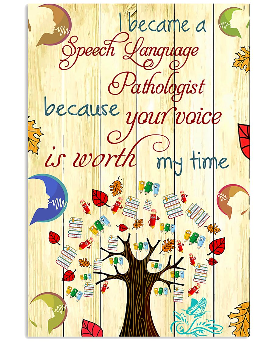 SLP Your Voice Is Worth 11x17 Poster