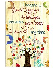 SLP Your Voice Is Worth 11x17 Poster front