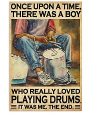 Drummer A Boy Who Really Loved Playing Drums  11x17 Poster front