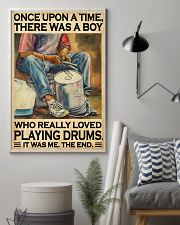 Drummer A Boy Who Really Loved Playing Drums  11x17 Poster lifestyle-poster-1