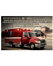 Paramedic While On This Ride Called Life 17x11 Poster front