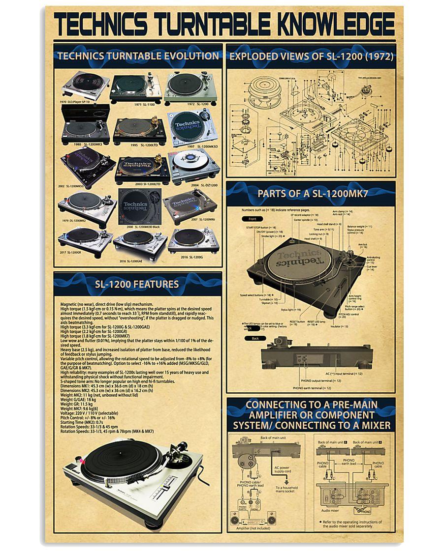 DJ Technics Turntable Knowledge 11x17 Poster