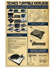 DJ Technics Turntable Knowledge 11x17 Poster front