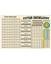 Guitar Knowledge Chart  17x11 Poster front