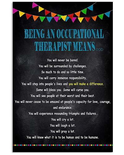 Being An Occupational Therapist Means