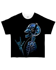 Radiologist Rock Music Skeleton  All-over T-Shirt front
