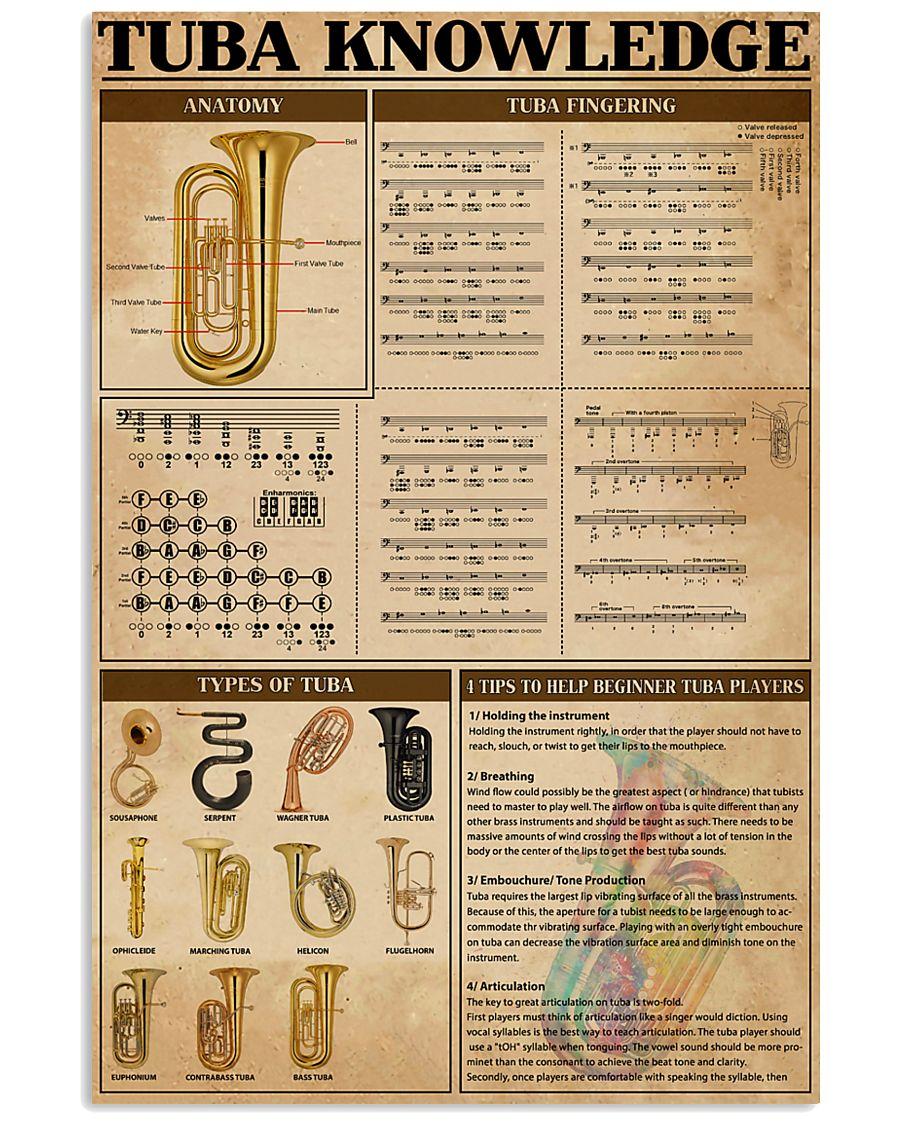 Tubist Tuba Knowledge 11x17 Poster