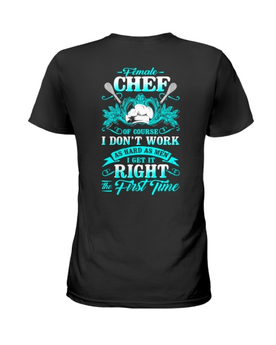 Female Chef Get it right the first time