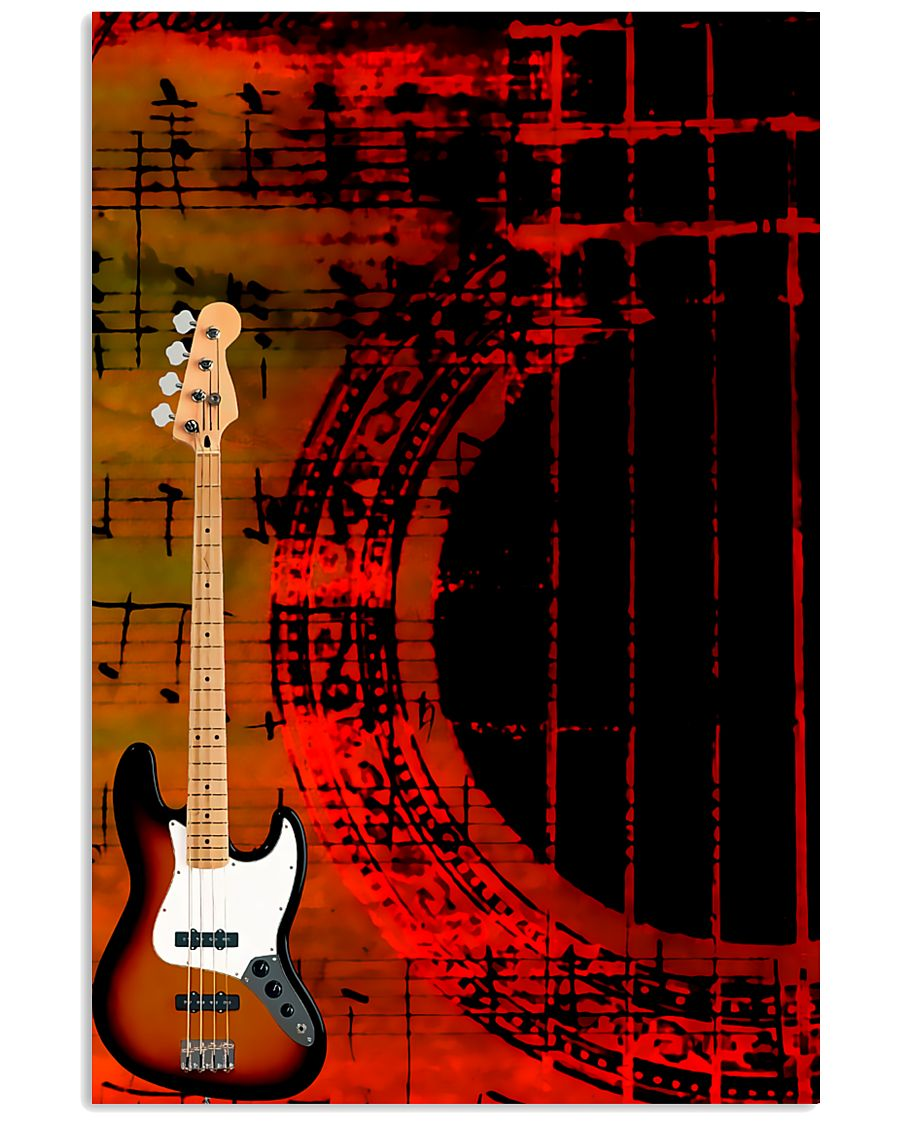 Art Color Bass Guitar 11x17 Poster