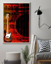 Art Color Bass Guitar 11x17 Poster lifestyle-poster-1