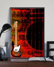 Art Color Bass Guitar 11x17 Poster lifestyle-poster-2