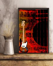 Art Color Bass Guitar 11x17 Poster lifestyle-poster-3