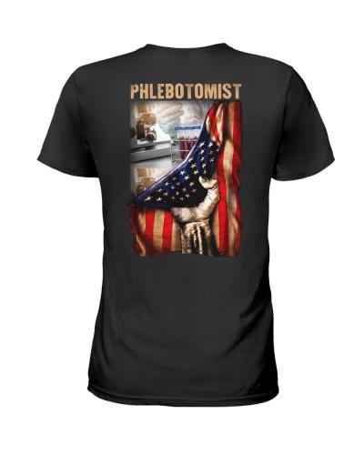Phlebotomist America Flag