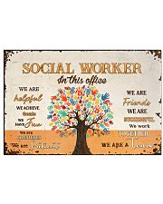 Social Worker In This Office 17x11 Poster front