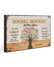 Social Worker In This Office 30x20 Gallery Wrapped Canvas Prints thumbnail