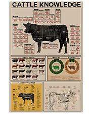 Farmer Cattle Knowledge 11x17 Poster front