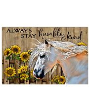 Horse Girl - Always stay humble and kind 17x11 Poster front