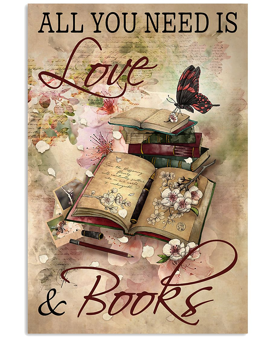 Librarian All You Need Is Love And Books 11x17 Poster