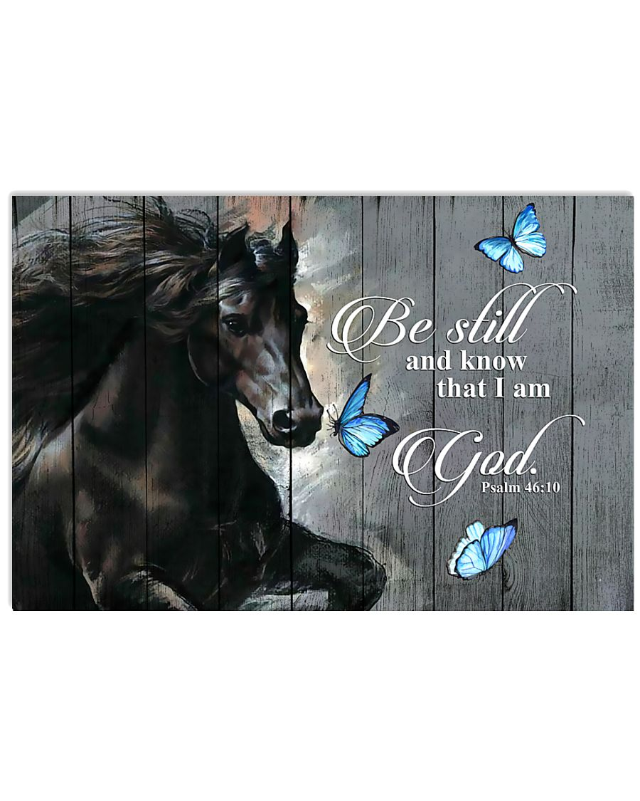 Horse Girl Be Still And Know That I Am 17x11 Poster