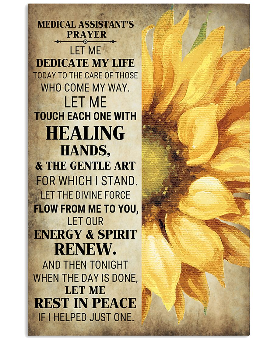 Medical Assistant's Prayer Poster 16x24 Poster