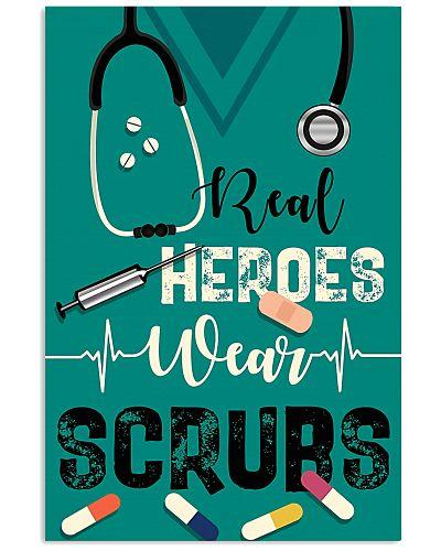 Respiratory Therapist Real Heroes Wear Scrubs