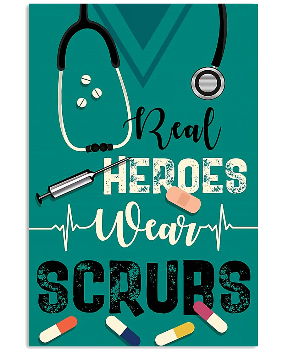 Respiratory Therapist Real Heroes Wear Scrubs 11x17 Poster