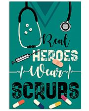 Respiratory Therapist Real Heroes Wear Scrubs 11x17 Poster front