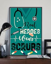Respiratory Therapist Real Heroes Wear Scrubs 11x17 Poster lifestyle-poster-2