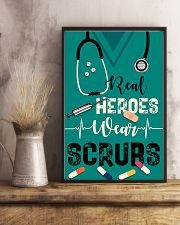 Respiratory Therapist Real Heroes Wear Scrubs 11x17 Poster lifestyle-poster-3