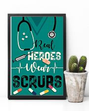 Respiratory Therapist Real Heroes Wear Scrubs 11x17 Poster lifestyle-poster-8