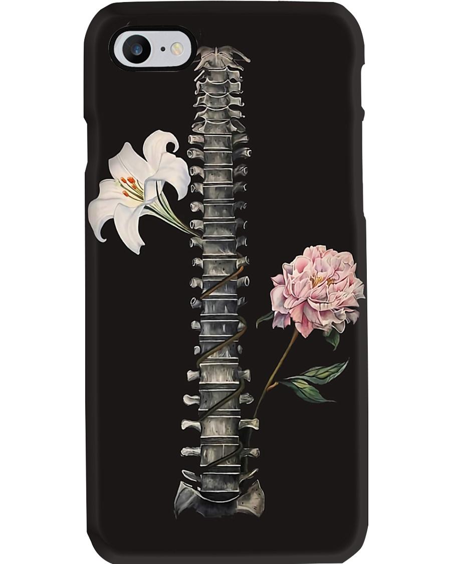 Radiology Floral Spine Phone Case