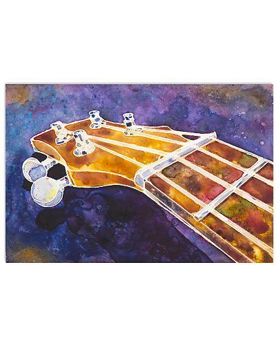 Art Watercolor Head Ukulele