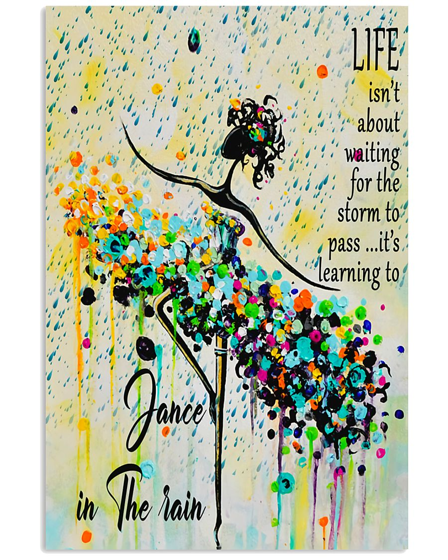 Ballet Learning to dance in the rain 11x17 Poster