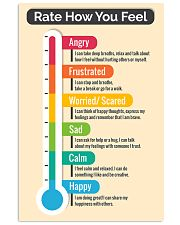 Social Worker Rate how you feel 11x17 Poster front