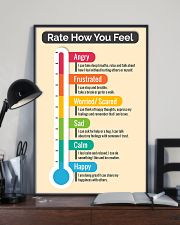 Social Worker Rate how you feel 11x17 Poster lifestyle-poster-2