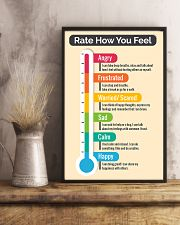 Social Worker Rate how you feel 11x17 Poster lifestyle-poster-3
