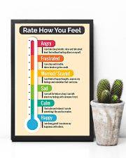 Social Worker Rate how you feel 11x17 Poster lifestyle-poster-8