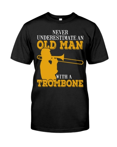 Trombonist underestimate old man with a trombone